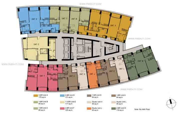 Floor Plans -39th to 63rd