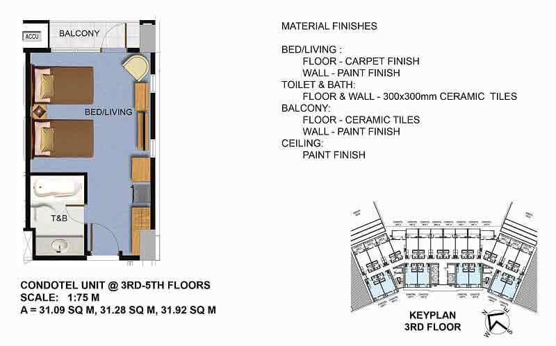 Condotel Unit (3rd - 5th Floor)