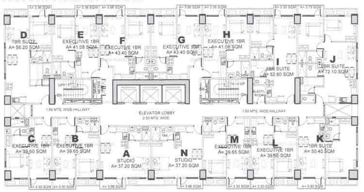 Floor Plan 24th to 27th
