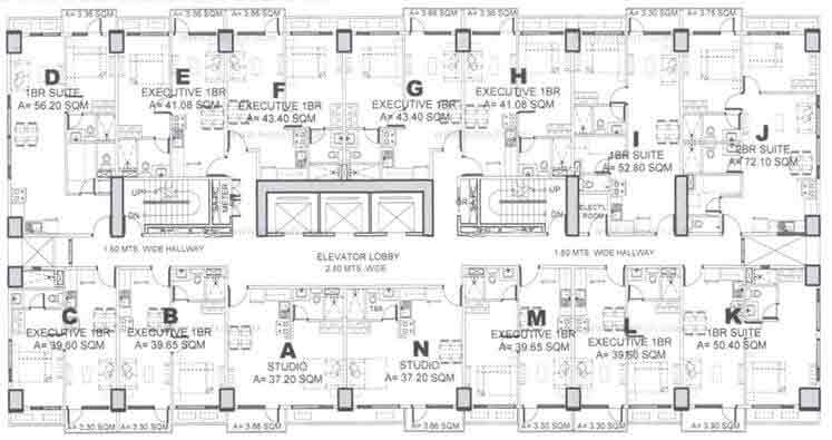 Floor Plan 23rd to 28th