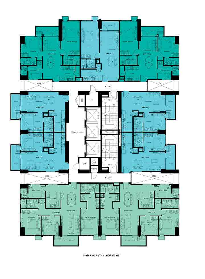 Floor Plan - 25th and 26th Floor