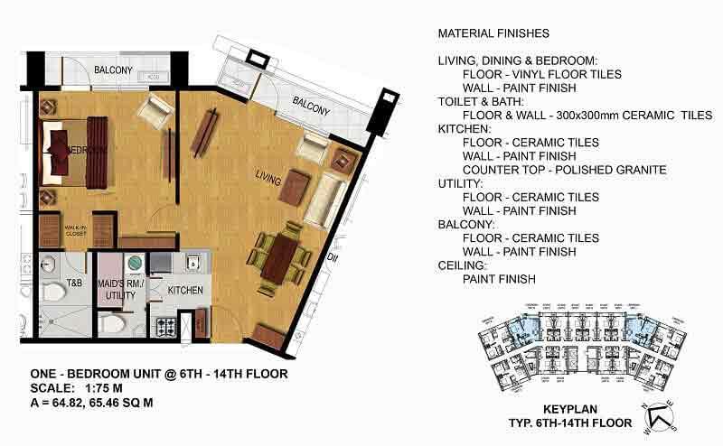 One Bedroom (6th - 14th Floor)