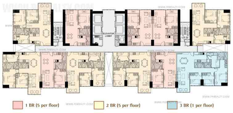 Floor Plan 3rd, 9th, 41st Floors