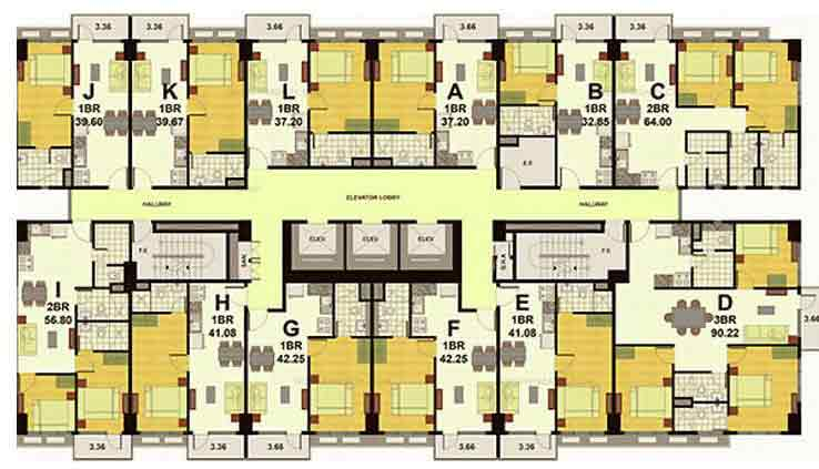Floor Plan 3rd to 26th