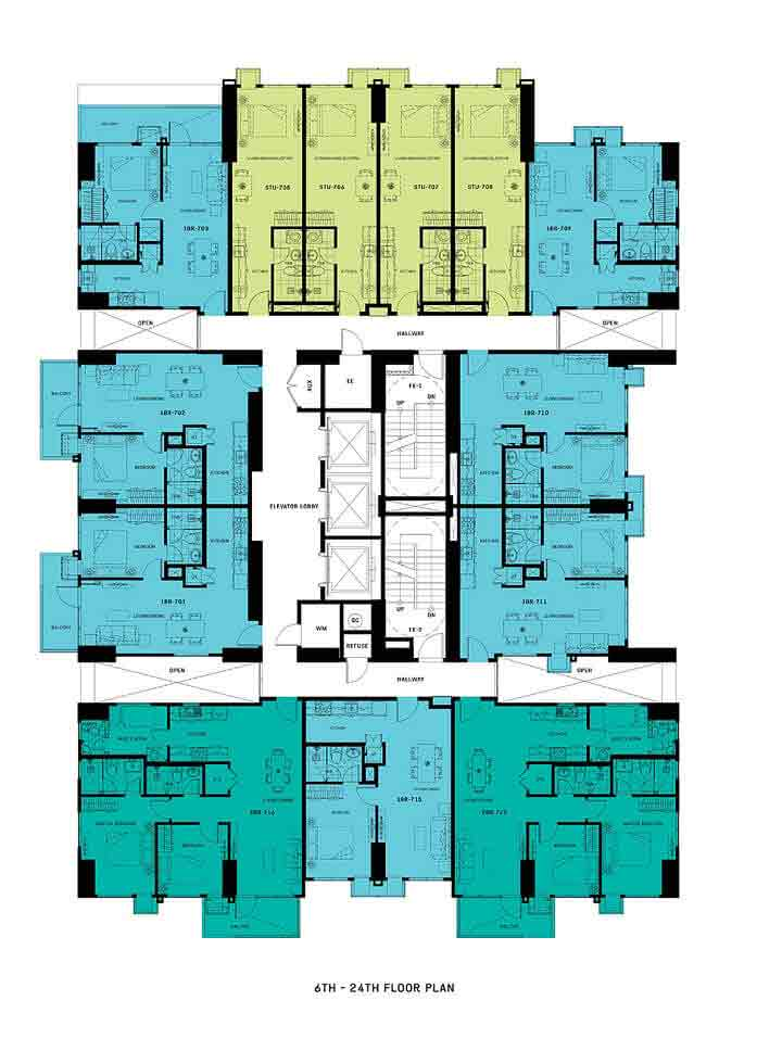 Floor Plan - 6th - 24th Floor