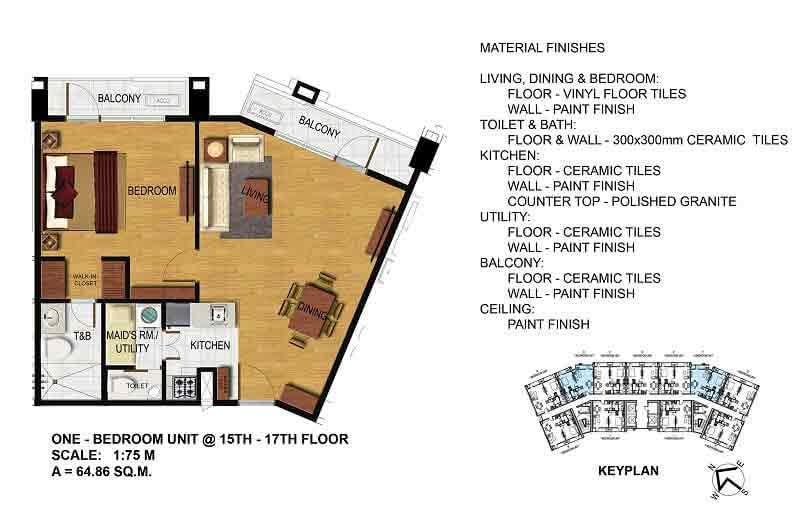 One Bedroom (15th - 17th Floor)