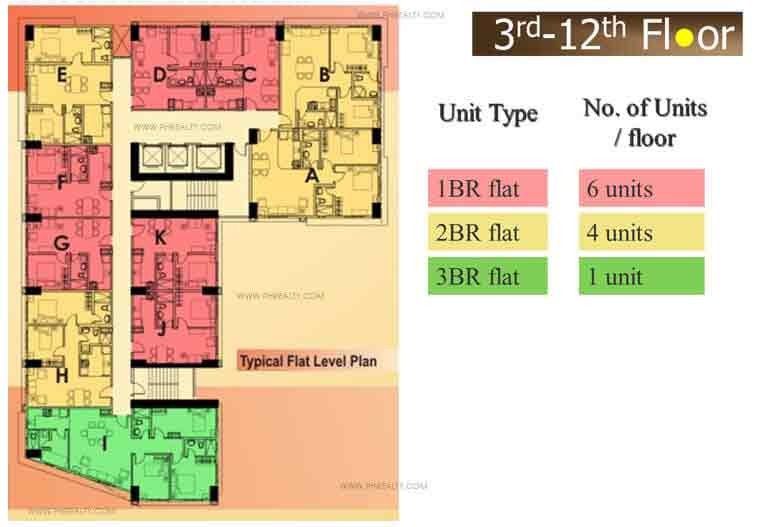 3rd - 12th Floor Plan