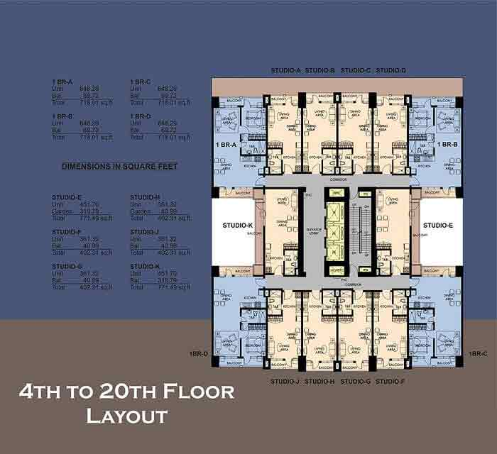 4th To 20th Floor Plan