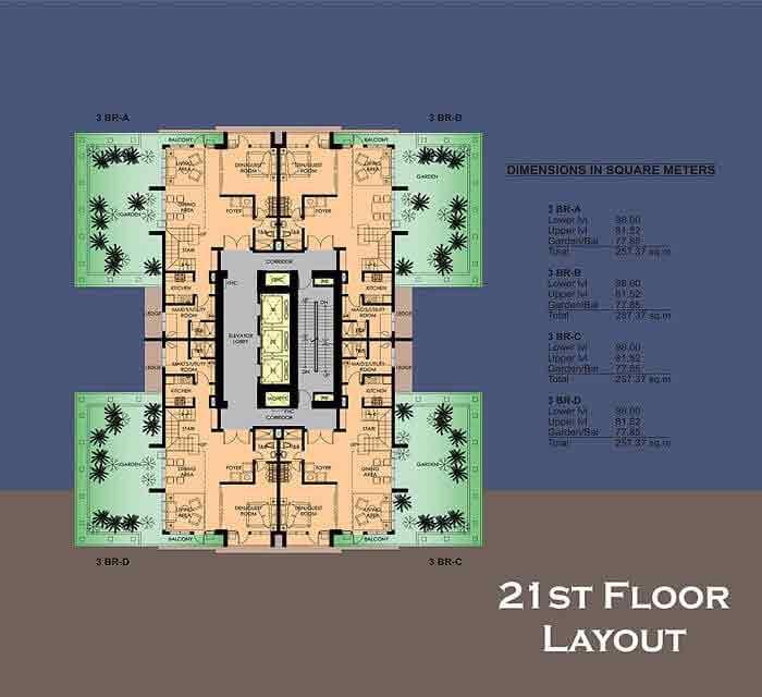 21 st Floor Layout