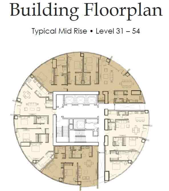 Floor Plan Level 31 - 54