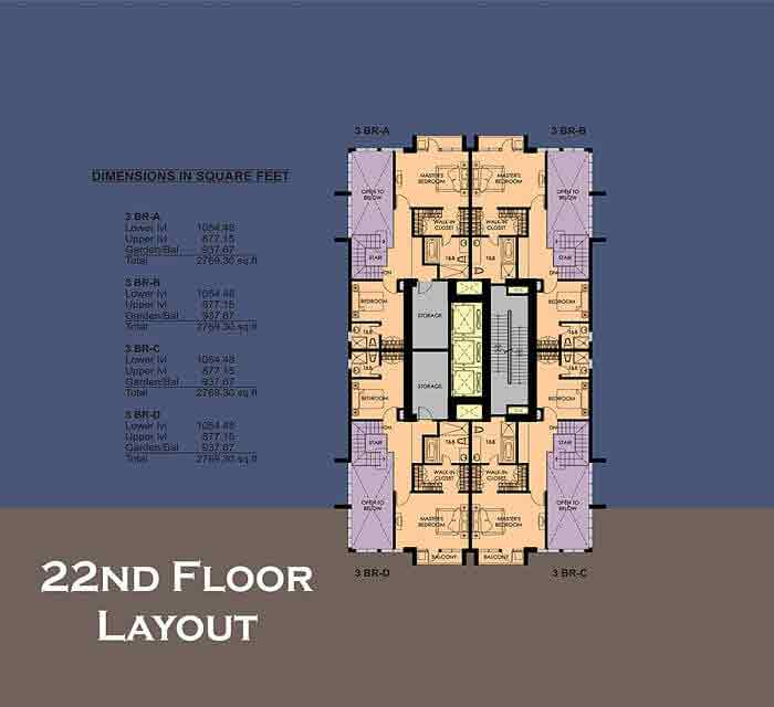 22nd Floor Plan