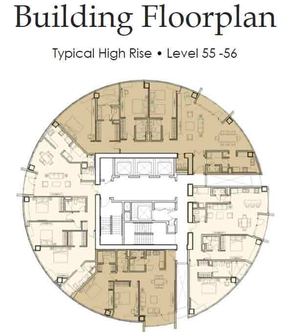 Floor Plan Level 55 - 56