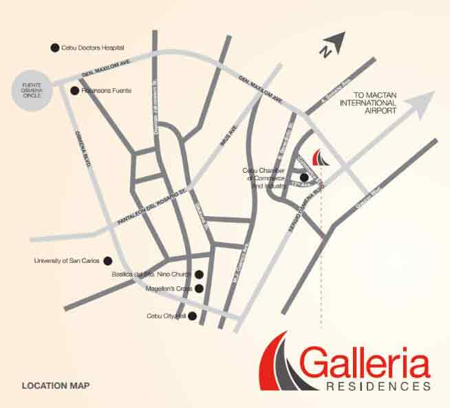 Galleria Residences Location