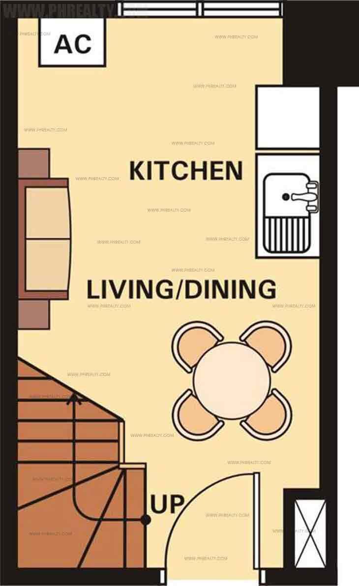 Unit Plan 1 Bedroom Lower Level