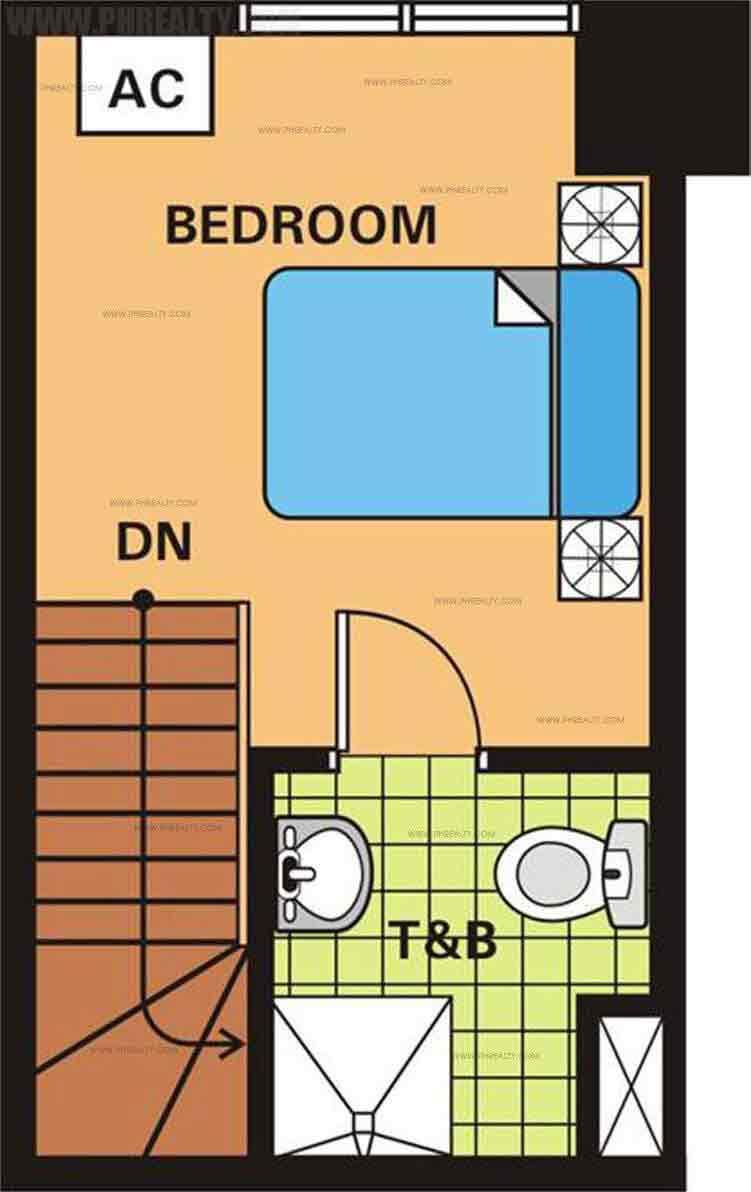 Unit Plan 1 Bedroom Upper Level