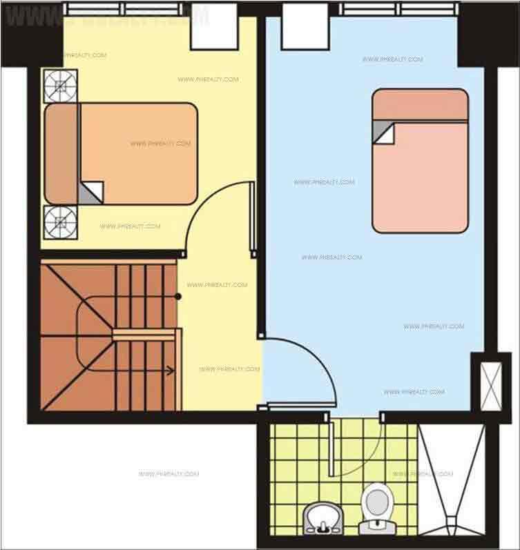 Unit Plan 2 Bedroom Upper Level
