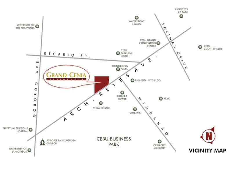 Grand Cenia Cebu Location