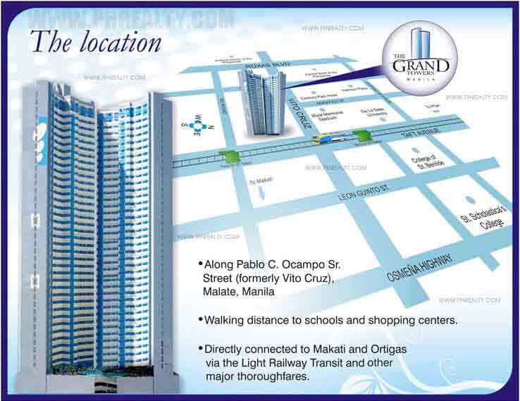 location address of moldex realty the grand towers manila