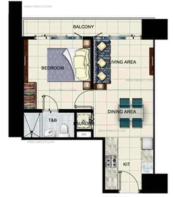 1 Bedroom L - Type With Balcony