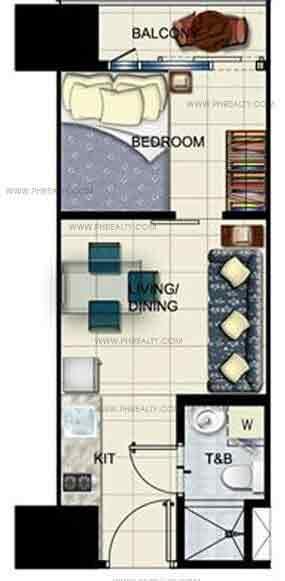 1 Bedroom With Balcony Unit