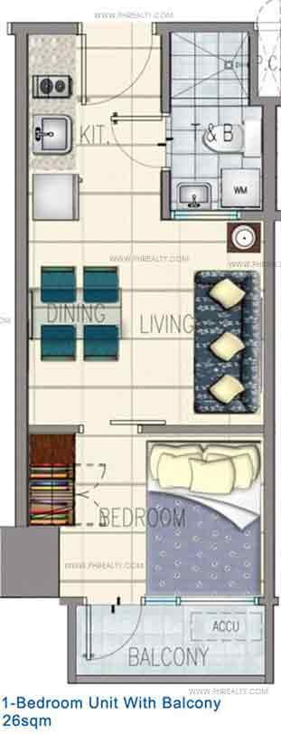 One Bedroom Unit With Balcony