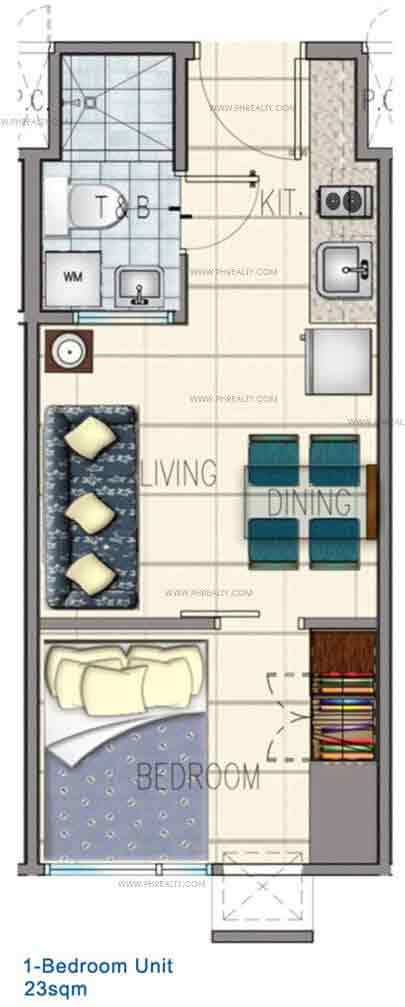Typical 1 Bedroom Unit