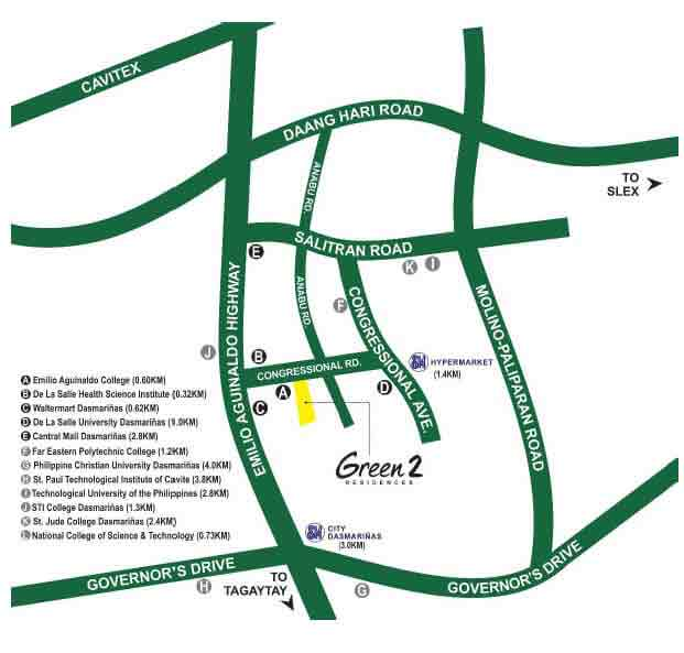 Green 2 Residences Location