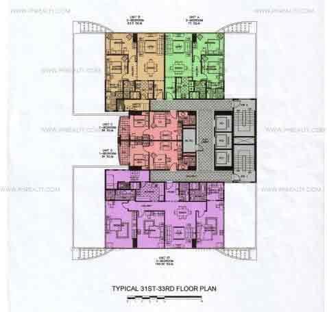 31st-33rd Floor Plan