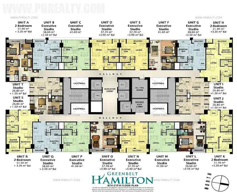 8th to 25th Floor Plan