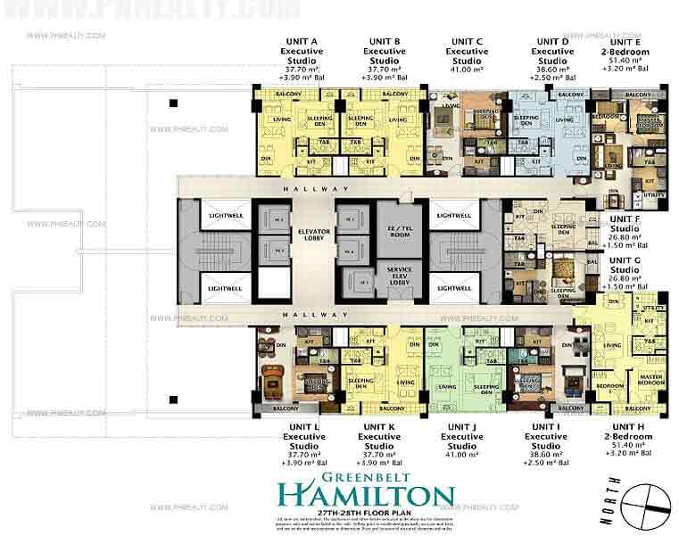 27th-28th Floor Plan