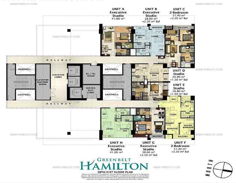 30th-31st Floor Plan