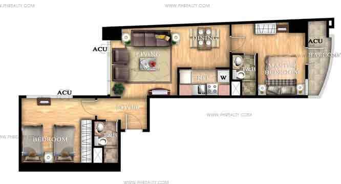 Unit L 2 bedroom unit