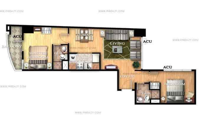 Unit G 2 bedroom unit