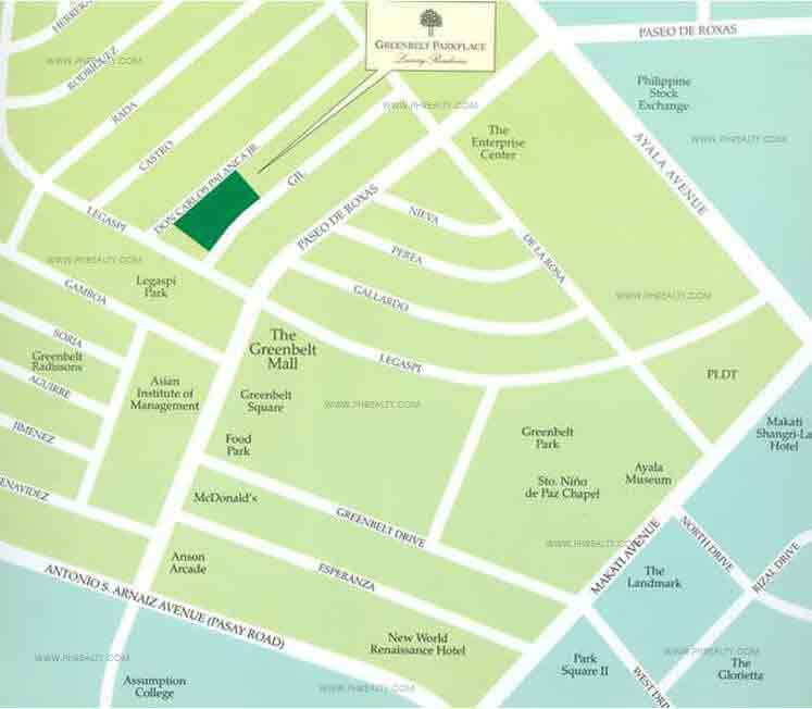 Greenbelt Parkplace Location