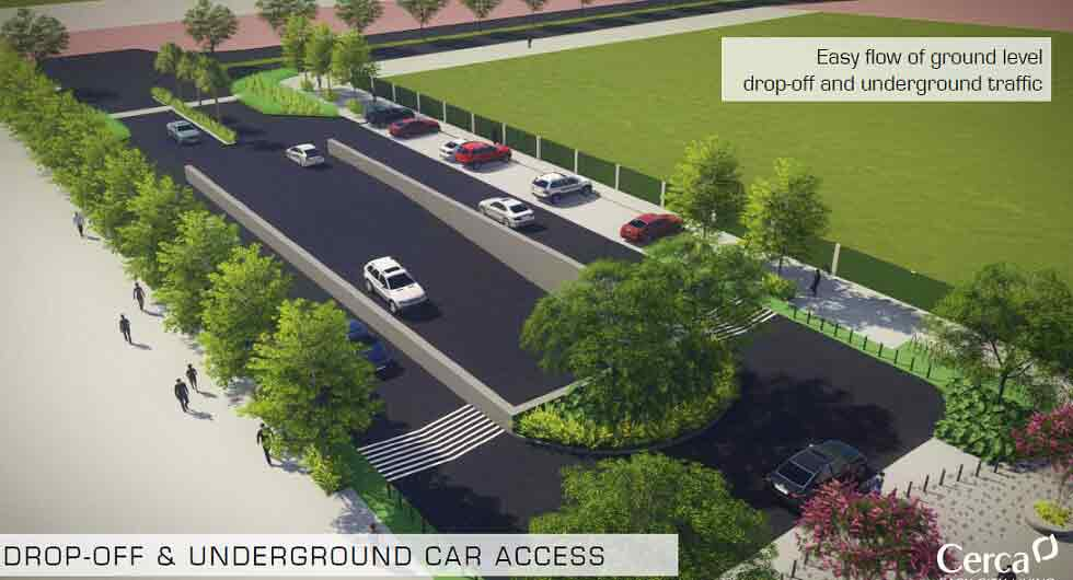 Drop off and Underground Car Access