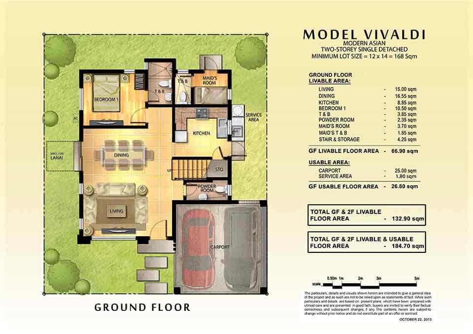 Vivaldi House Model Laeuna de Taal House Lot in Brgy Banga – House Model With Floor Plan