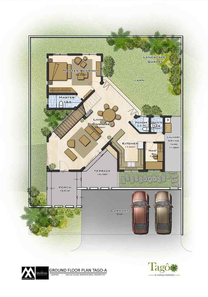 Ground Floor Plan - Ara-al Home