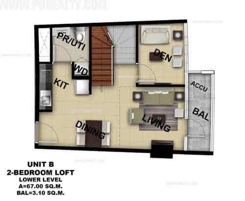 Unit B 2 Bedroom Loft