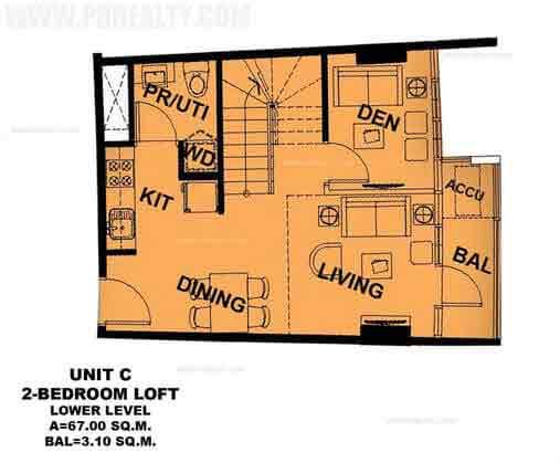 Unit C 2 Bedroom Loft