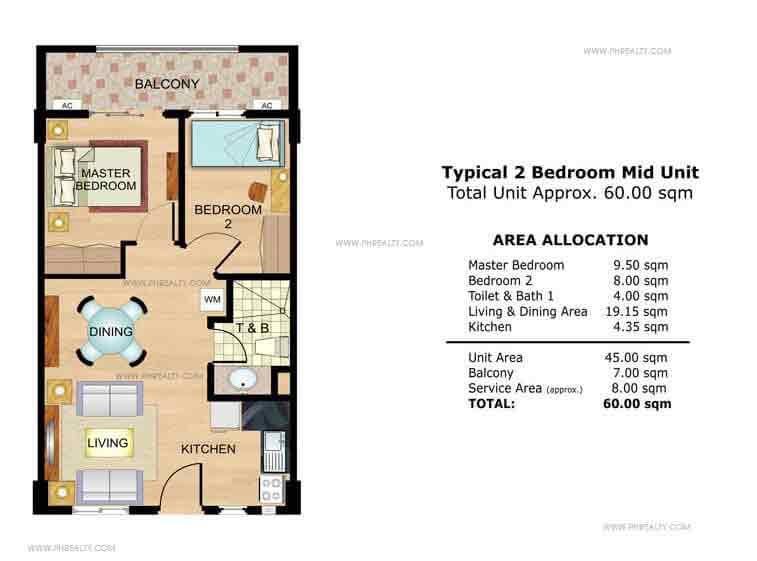 Hawthorn 2 Bedroom Mid Unit