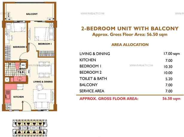 2BR With Balcony