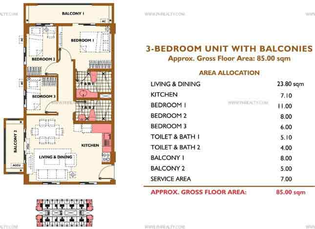 3BR With Balcony