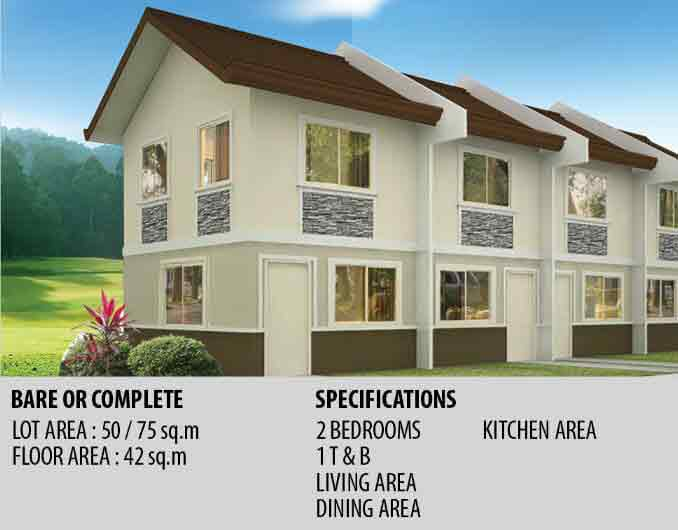 Jasmine Townhouse Specifications