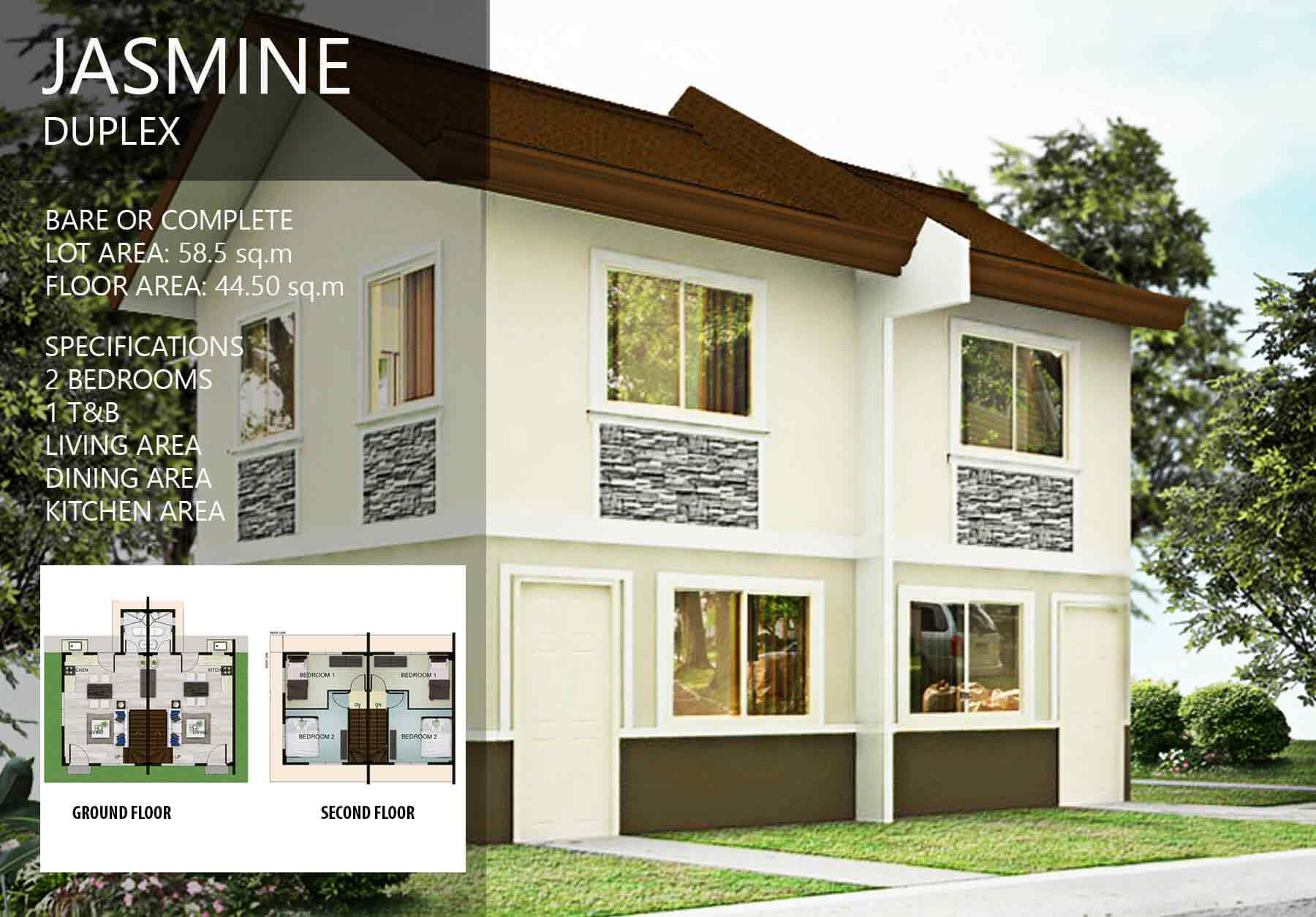 Camella Homes Floor Plan Philippines Jasmine Duplex Arella Residences House Amp Lot In Laguna