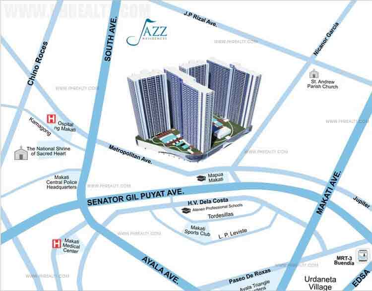 Jazz Residences Location