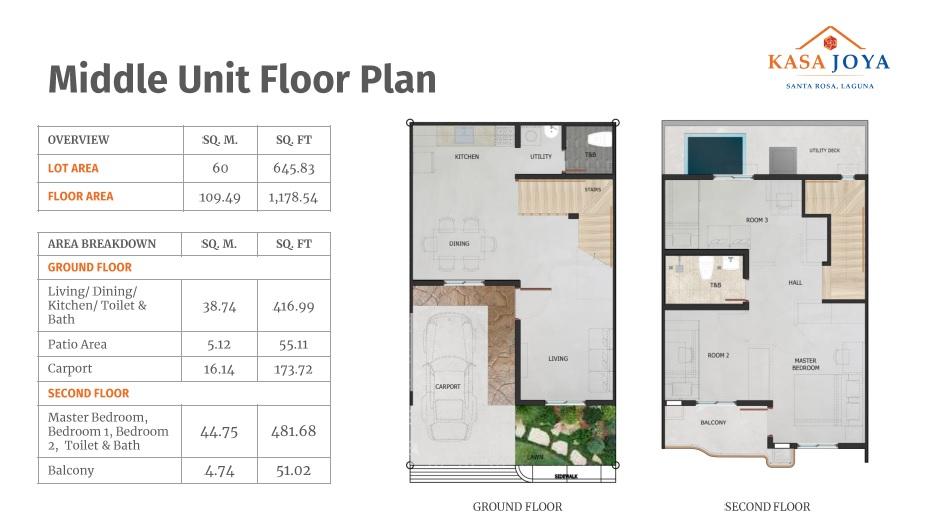 Middle Unit Floor Plan