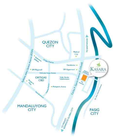 Kasara Urban Resort Residences Location