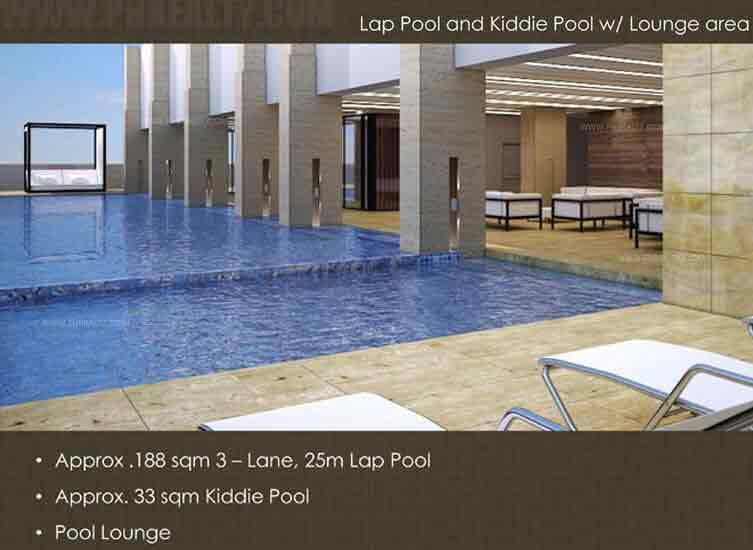 Lap Pool & Kiddle Pool & Lounge Area