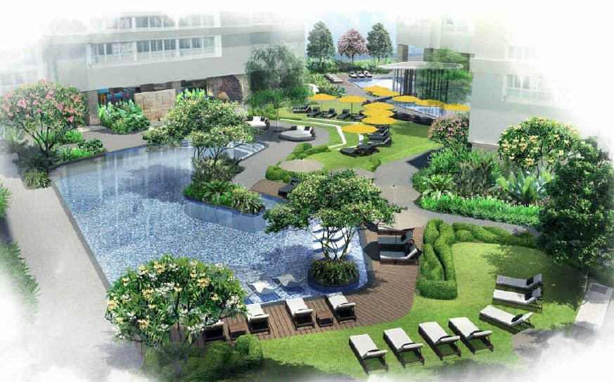 Landscape Area and Pool