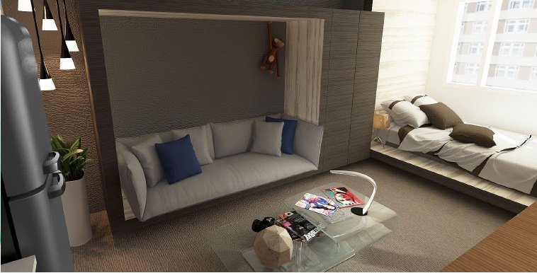 Living Room - 1 BR